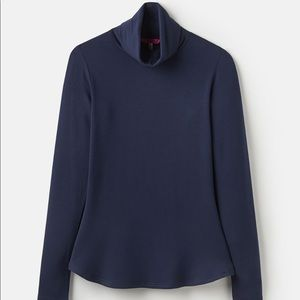 Joules Roll Neck Long Sleeve Jersey Top Blue
